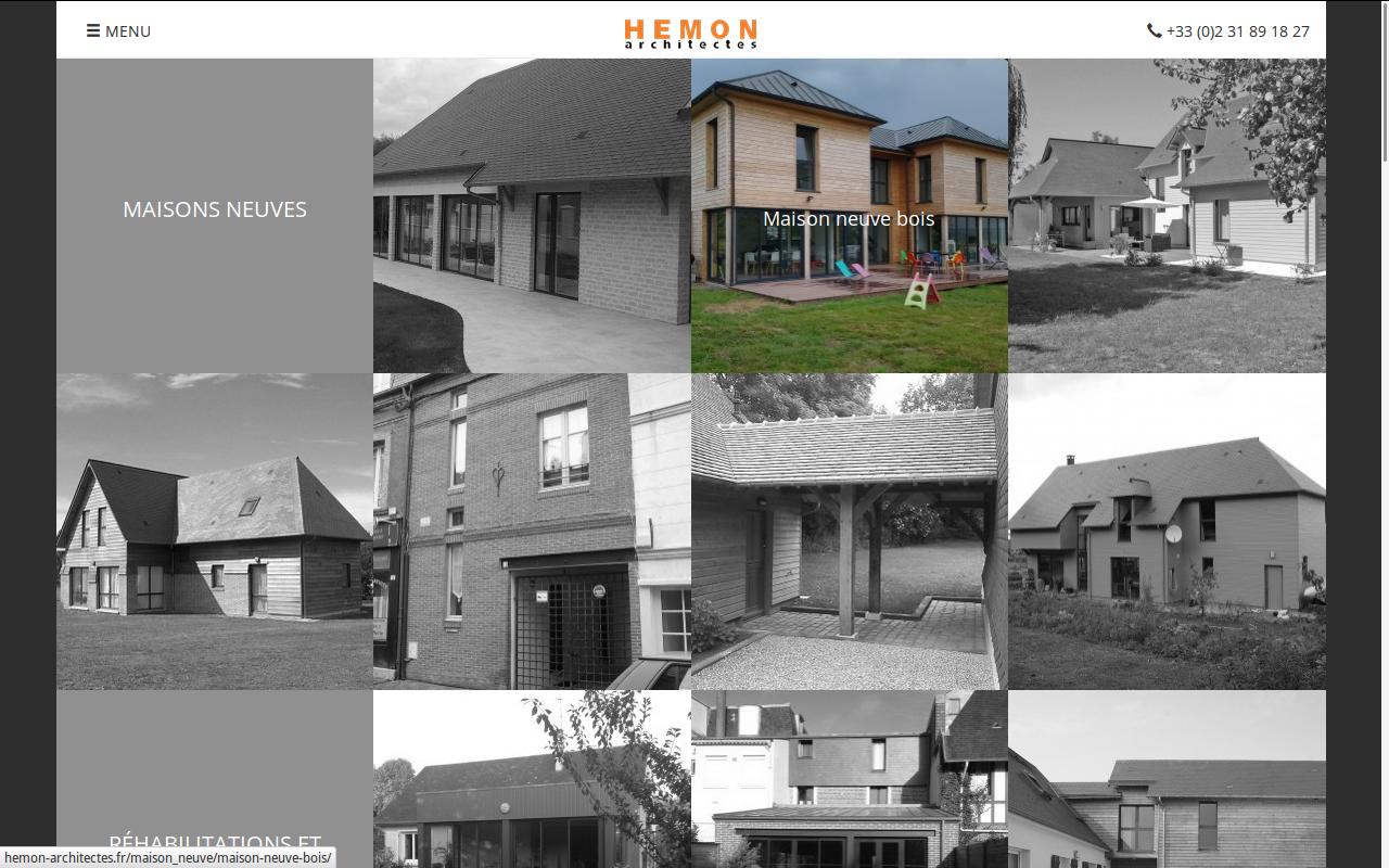 Homepage hemon architecte